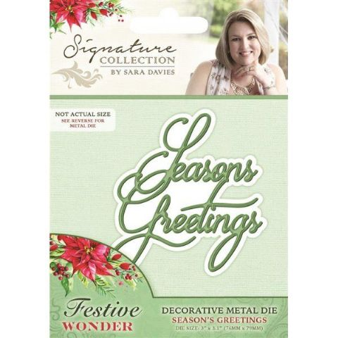 Sara Signature Festive Wonder Collection - Seasons Greetings Die